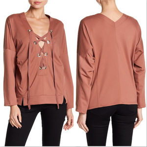 Tops - CASUAL LACE UP TOP